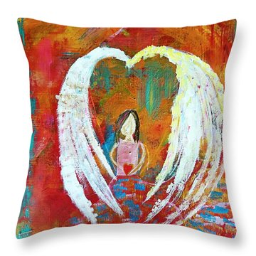 Surrounded By Love Throw Pillow