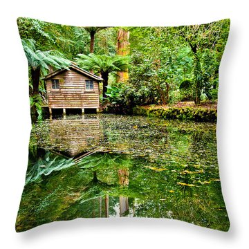 Surrounded By Nature Throw Pillow