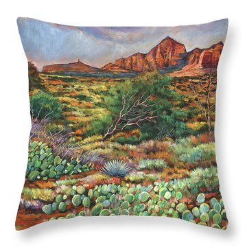Surrounded By Sedona Throw Pillow
