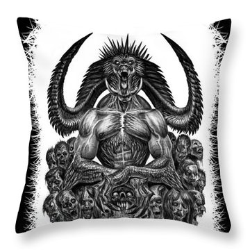 Surrounded By Sin Throw Pillow