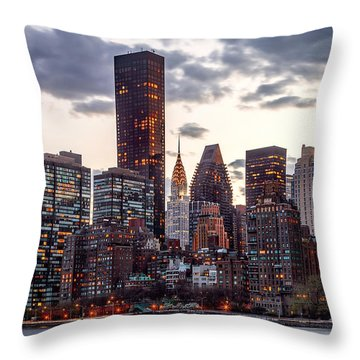 Surrounded By The City Throw Pillow