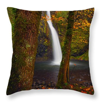 Surrounded By The Season Throw Pillow by Mike  Dawson