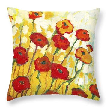 Surrounded In Gold Throw Pillow
