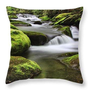 Surrounded In Green Throw Pillow