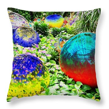 Surrreal Gardens Throw Pillow