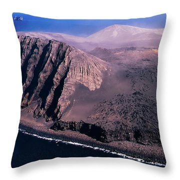 Surtsey In Iceland Throw Pillow