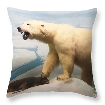 Survival Of The Fittest Throw Pillow by Cindy Manero
