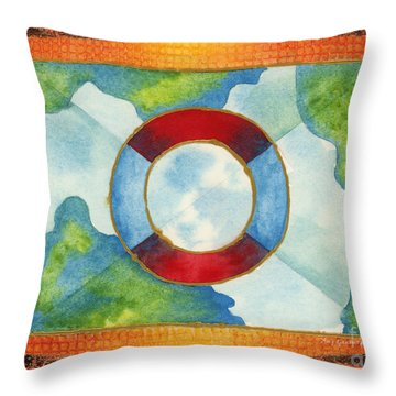 Surviving Global Warming Throw Pillow