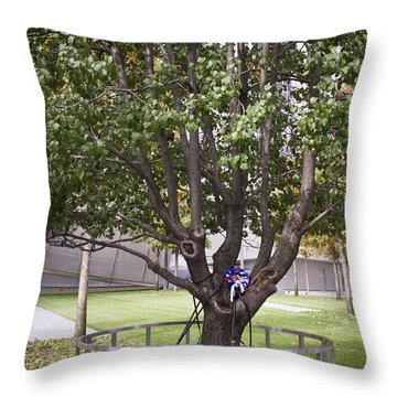 Survivor Tree Throw Pillow