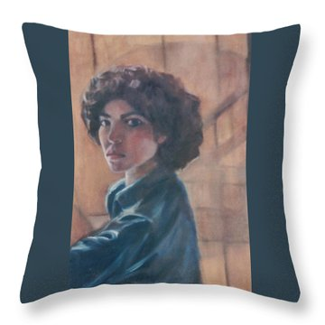 Susan Berger - Suzn Smith - Self Portrait Throw Pillow