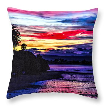 Suset Beach Throw Pillow