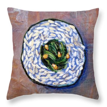 Sushi By Number 2 Throw Pillow