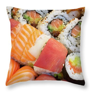 Sushi Dish Throw Pillow
