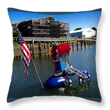 Susie Is A Lady -  Harbor Guardian Throw Pillow