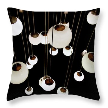 Throw Pillow featuring the photograph Suspended - Balls Of Light Art Print by Jane Eleanor Nicholas