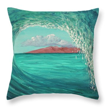 Throw Pillow featuring the painting Suspended In Time by Darice Machel McGuire