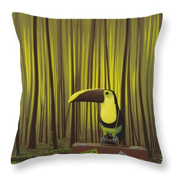 Suspenders Throw Pillow by Jasper Oostland