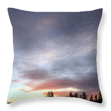 Suspenseful Skies Throw Pillow