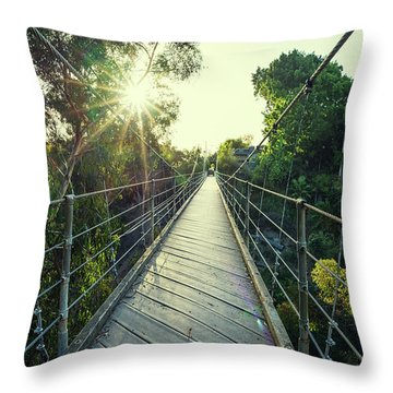 Suspension And Sunbeams Throw Pillow