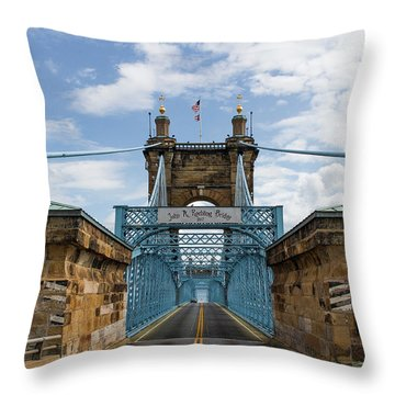 Suspension Bridge Wide Angel Throw Pillow by Scott Meyer