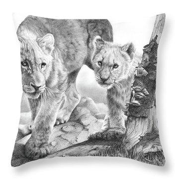 Suspicious Minds Throw Pillow