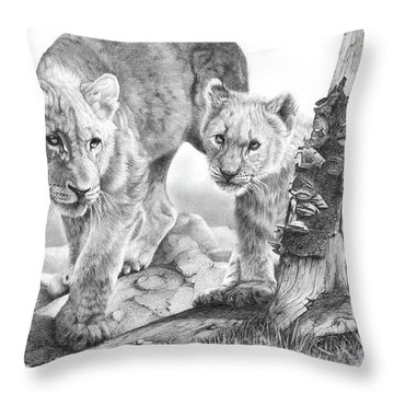 Suspicious Minds Throw Pillow