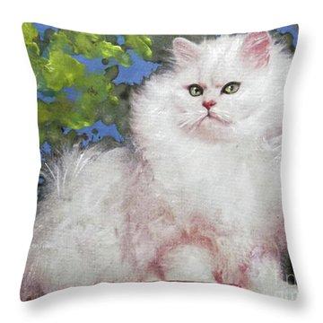 Suspicious Princess Throw Pillow
