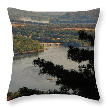 Susquehanna River Below Throw Pillow
