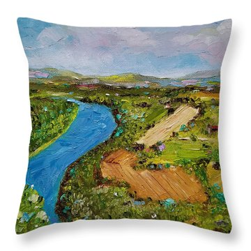 Throw Pillow featuring the painting Susquehanna Valley by Judith Rhue