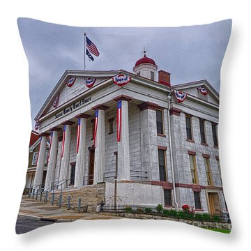 Sussex County Courthouse Throw Pillow by Mark Miller