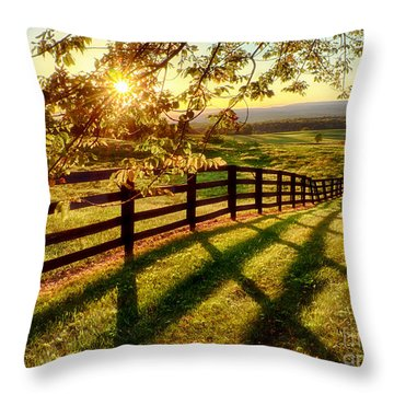 Sussex County Sunset Throw Pillow