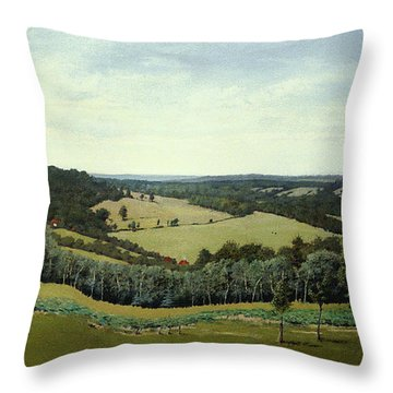 Sussex England - Landscape In Oils Throw Pillow