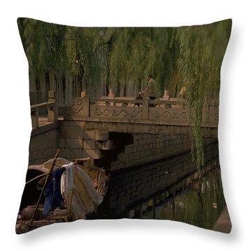 Suzhou Canals Throw Pillow