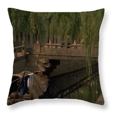 Suzhou Canals Throw Pillow