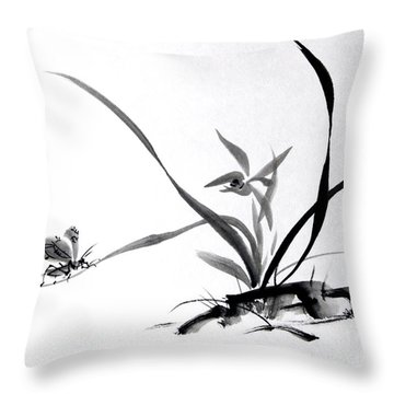 Suzumushi/ Sounds Of Fall Throw Pillow