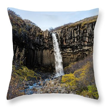 Svartifoss Throw Pillow