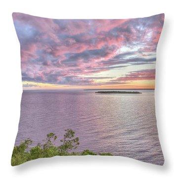 Sven's Bluff Sunset Throw Pillow