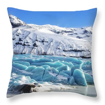 Throw Pillow featuring the photograph Svinafellsjokull Glacier Iceland by Matthias Hauser