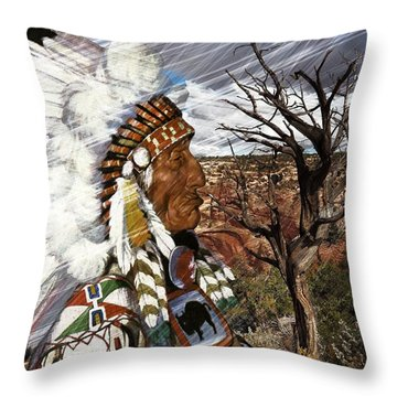 Sw Indian Throw Pillow by Liane Wright
