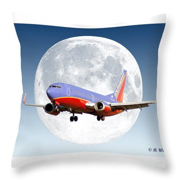 Sw Moon Throw Pillow by Brian Wallace