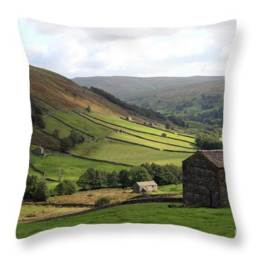 Swaledale  Yorkshire Dales Throw Pillow