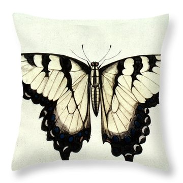Swallow-tail Butterfly Throw Pillow by Granger