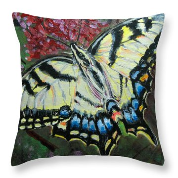 Swallow Tail Butterfly Throw Pillow