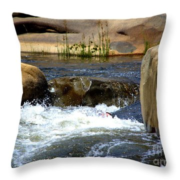 Swallowed Alive Throw Pillow