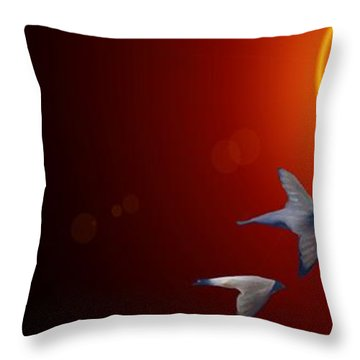 Swallows In Flight Throw Pillow by George Pedro