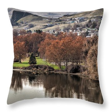 Swallow's Nest Park Throw Pillow by Brad Stinson