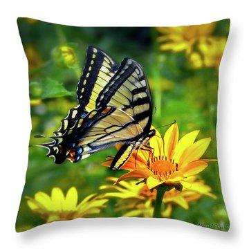 Swallowtail Dance Throw Pillow by Diane E Berry