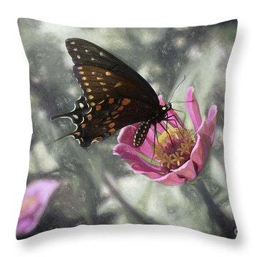 Swallowtail In A Fairytale Throw Pillow