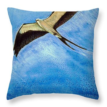 Swallowtail Sighting Throw Pillow by Suzanne McKee