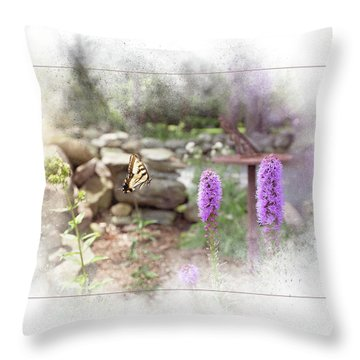 Throw Pillow featuring the digital art Swallowtail by Sue Collura